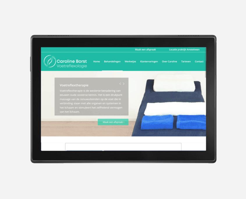 Website-tablet-Voetreflexologie-praktijk-Caroline-Borst