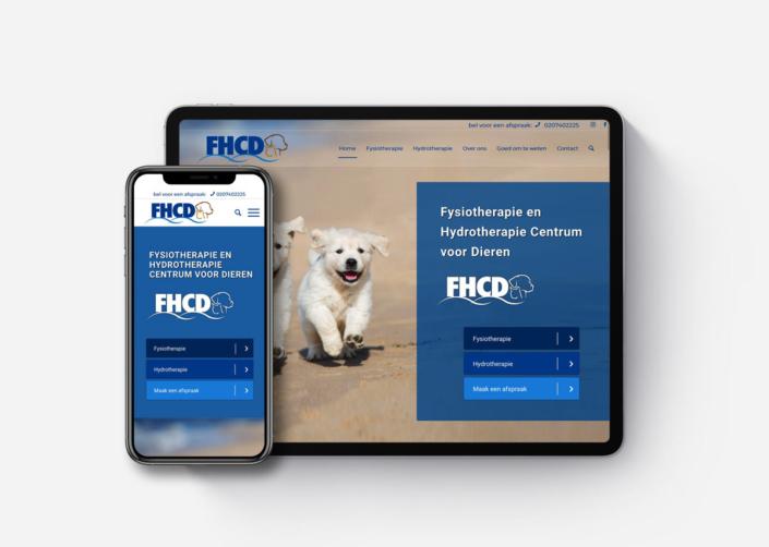 Webdesign responsive wordpress website voor FHCD Fysiotherapie & Hydrotherapie Centrum voor Dieren