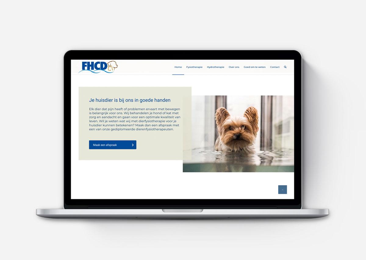 Webdesign responsive wordpress website voor fysiotherapie voor dieren fhcd