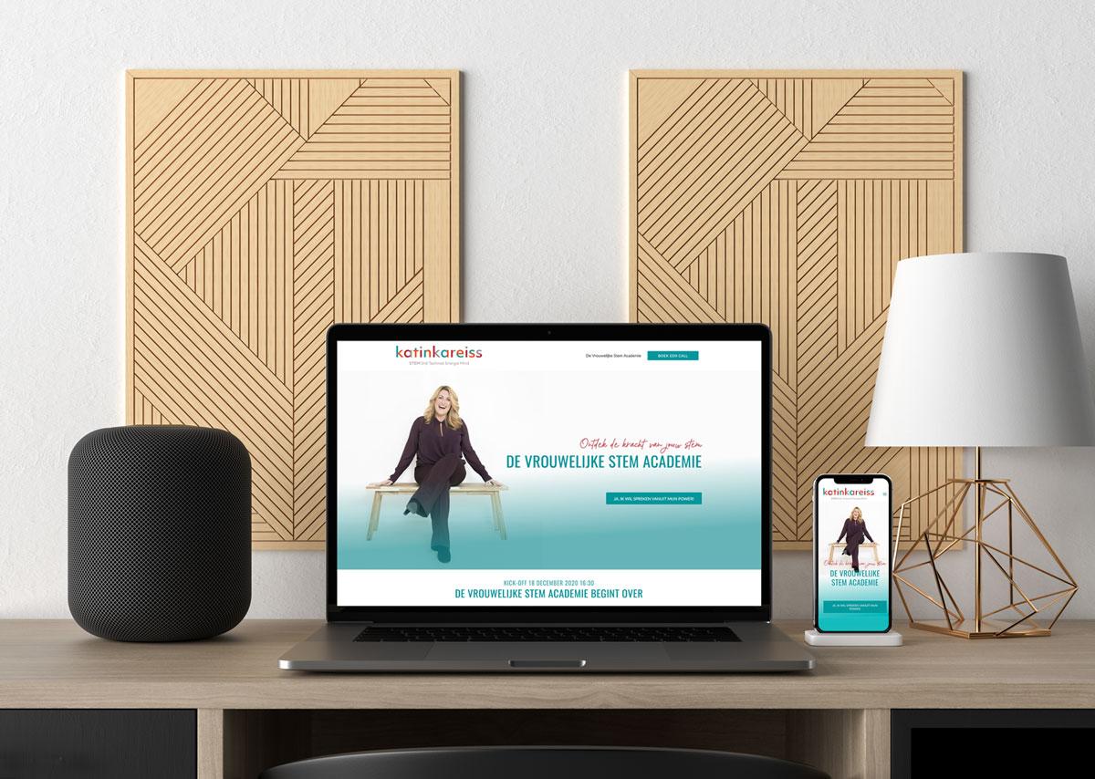 Webdesign De Stem Academie Katinka Reiss desktop-mobile